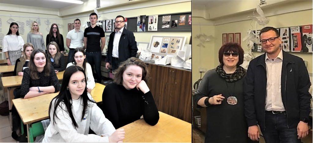 Artūras Adomkevičius, 3 kl. gimnazistai ir Irena Gruzdienė