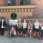 1b klasės lietuvių pamoka senamiestyje