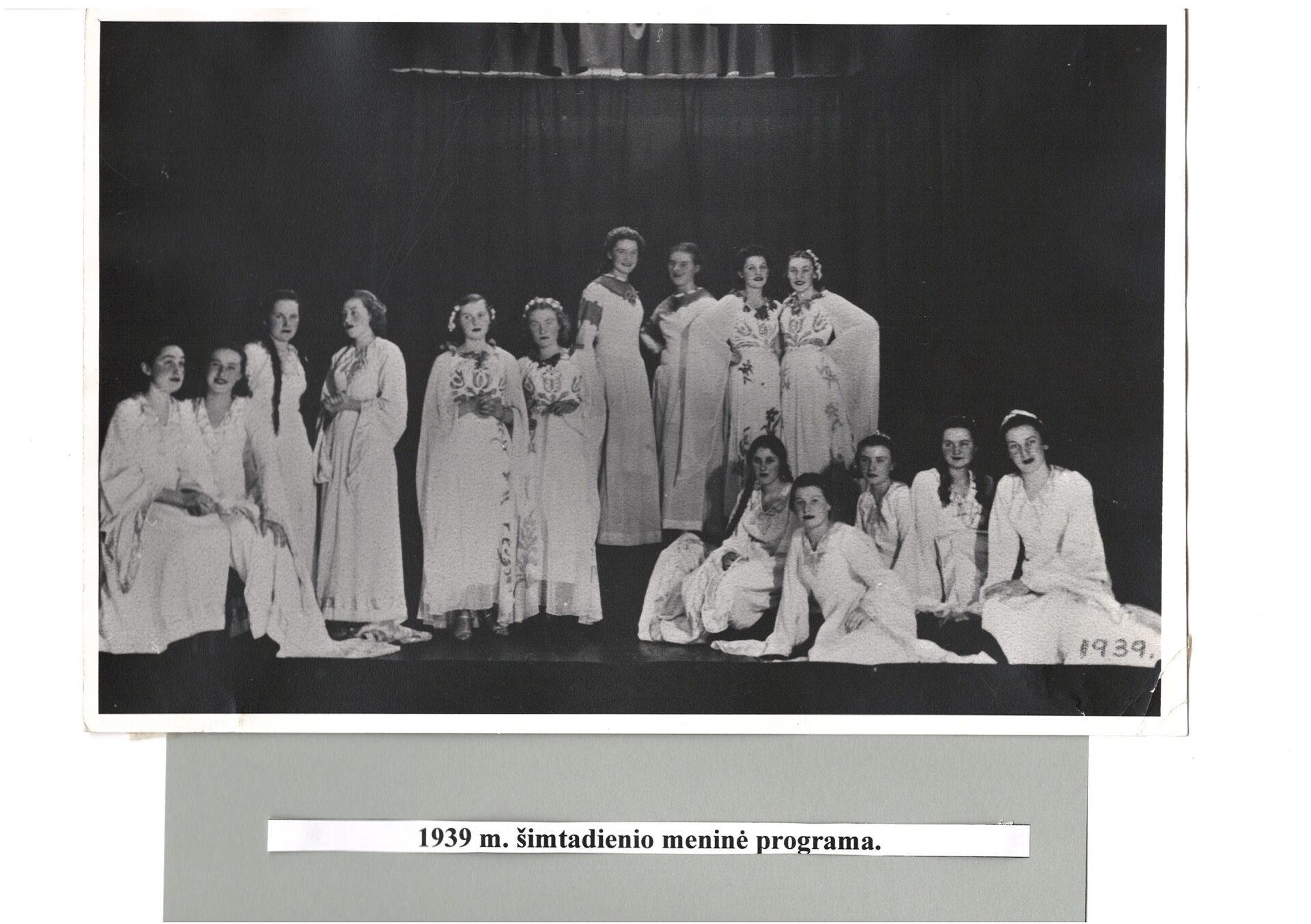 1939 m. šimtadienio meninė programa