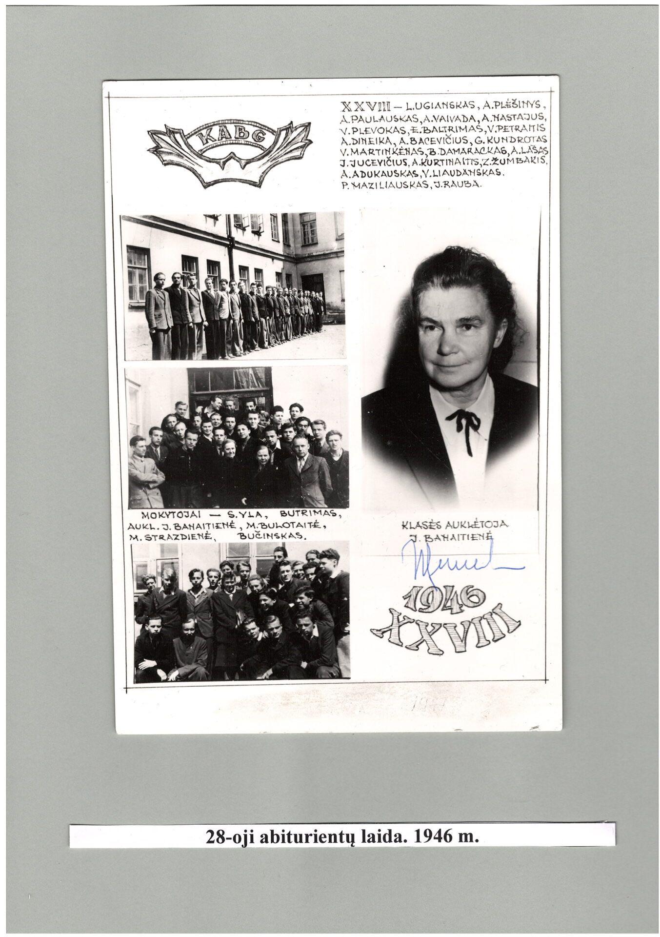 28-a laida, 1946 m.