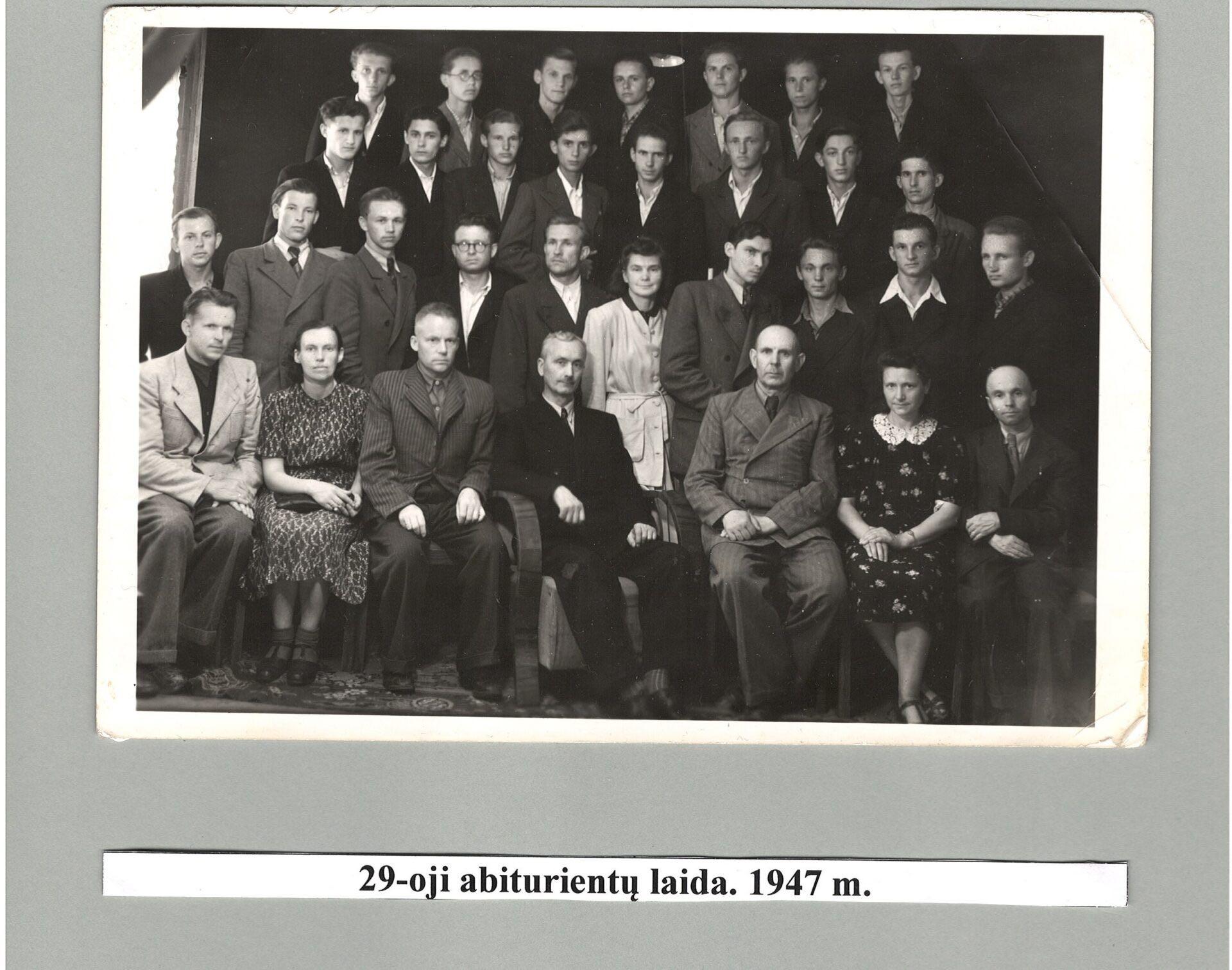 29-a laida, 1947 m.