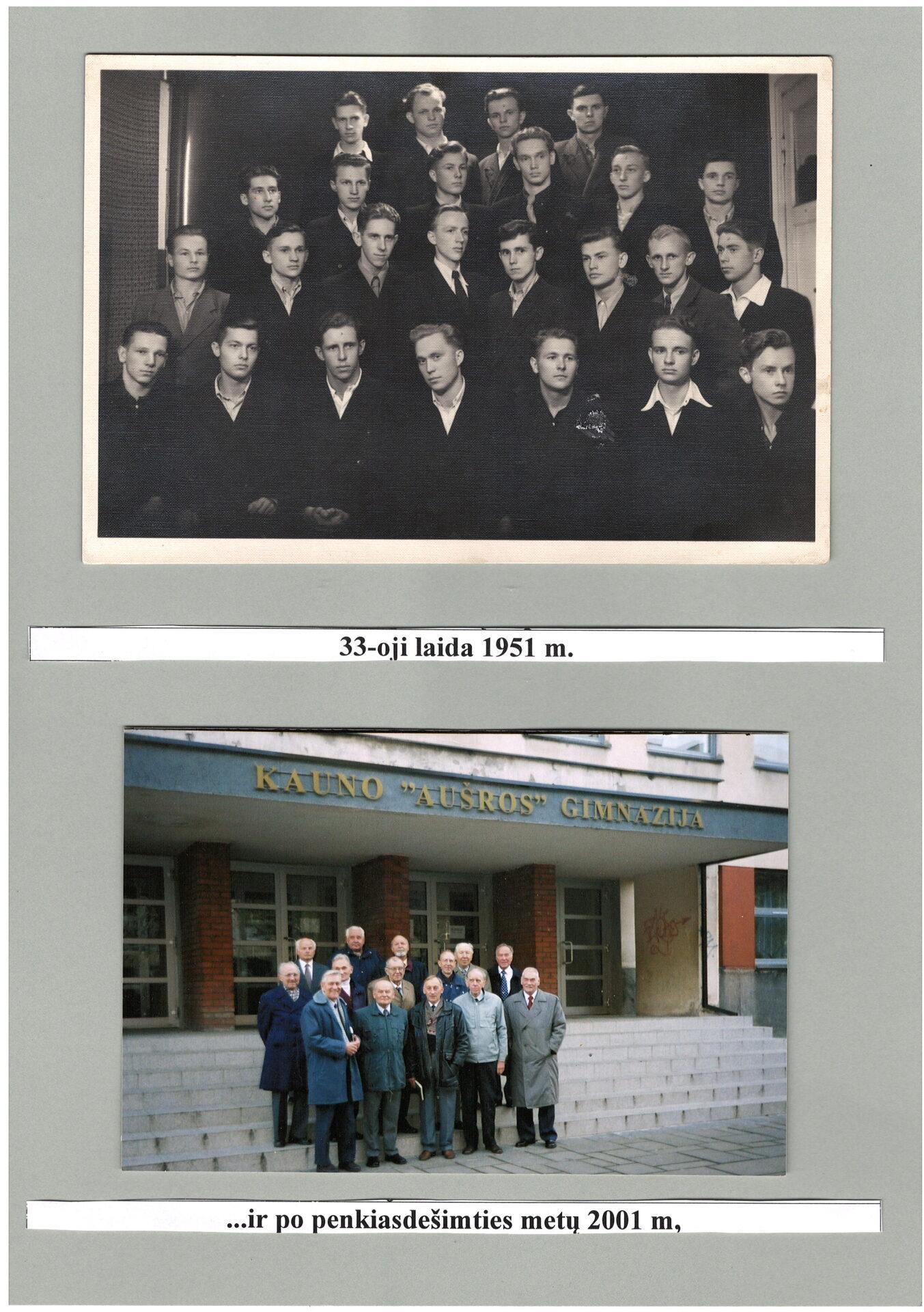 33-a laida (1951 m.) ir po 50 metų (2001 m.)