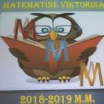 """Tarpklasinė matematikos viktorina """"MMM"""""""
